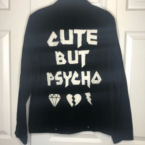 Jackets & Blazers - Cute but Psycho denim jacket